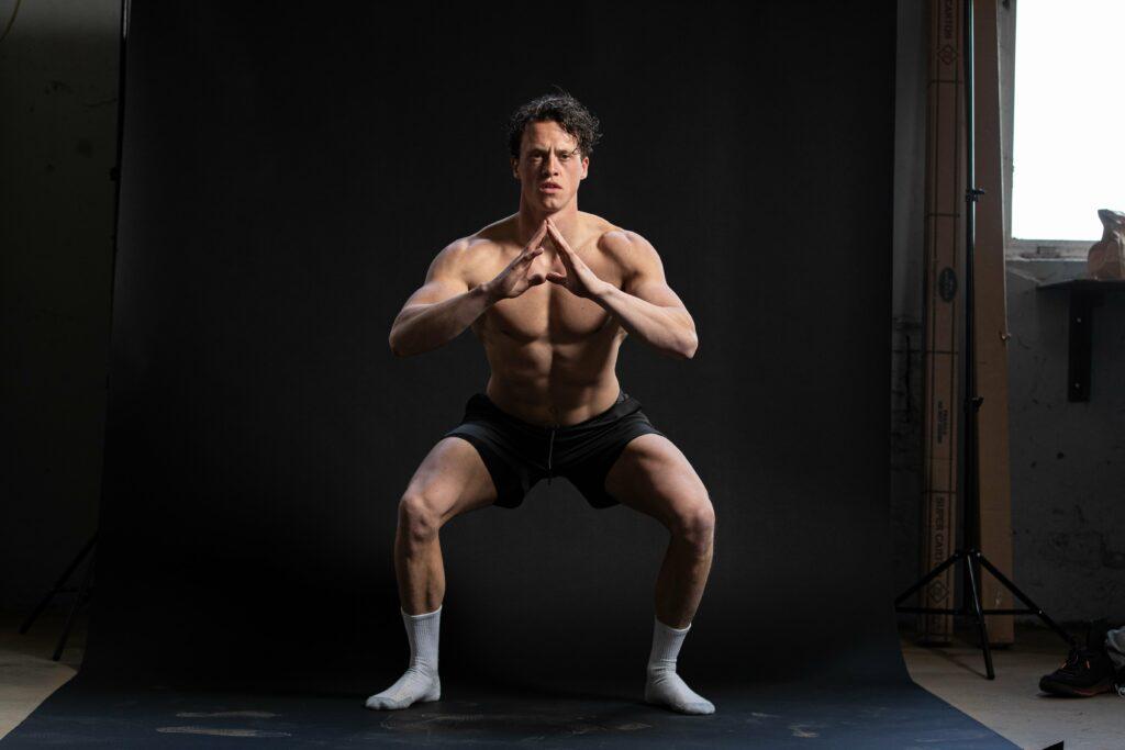 dynamische stretch squat