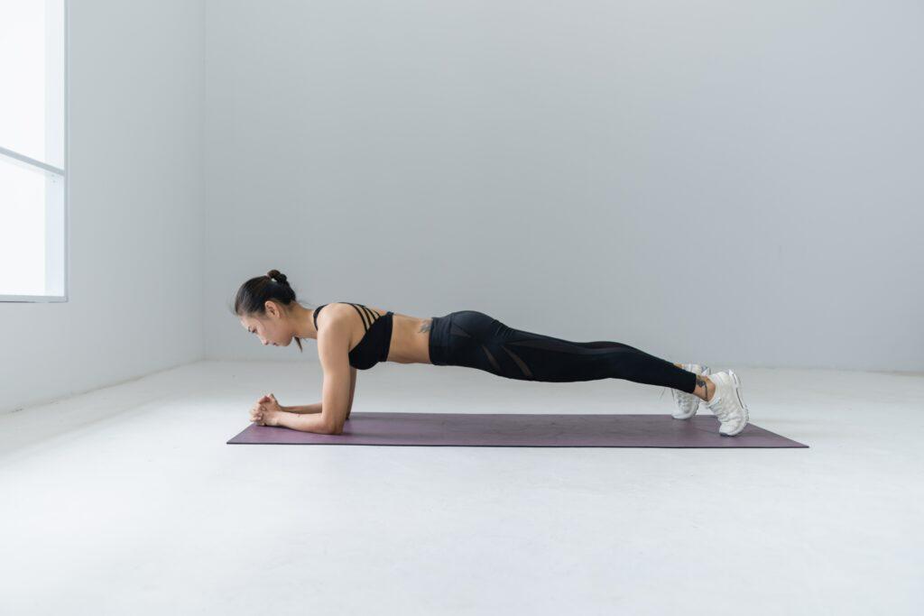planken lichaamsgewicht oefening