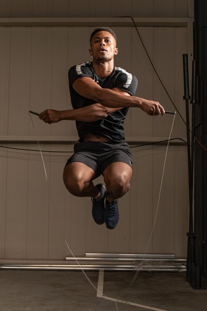 touwtje springen tijdens hiit training