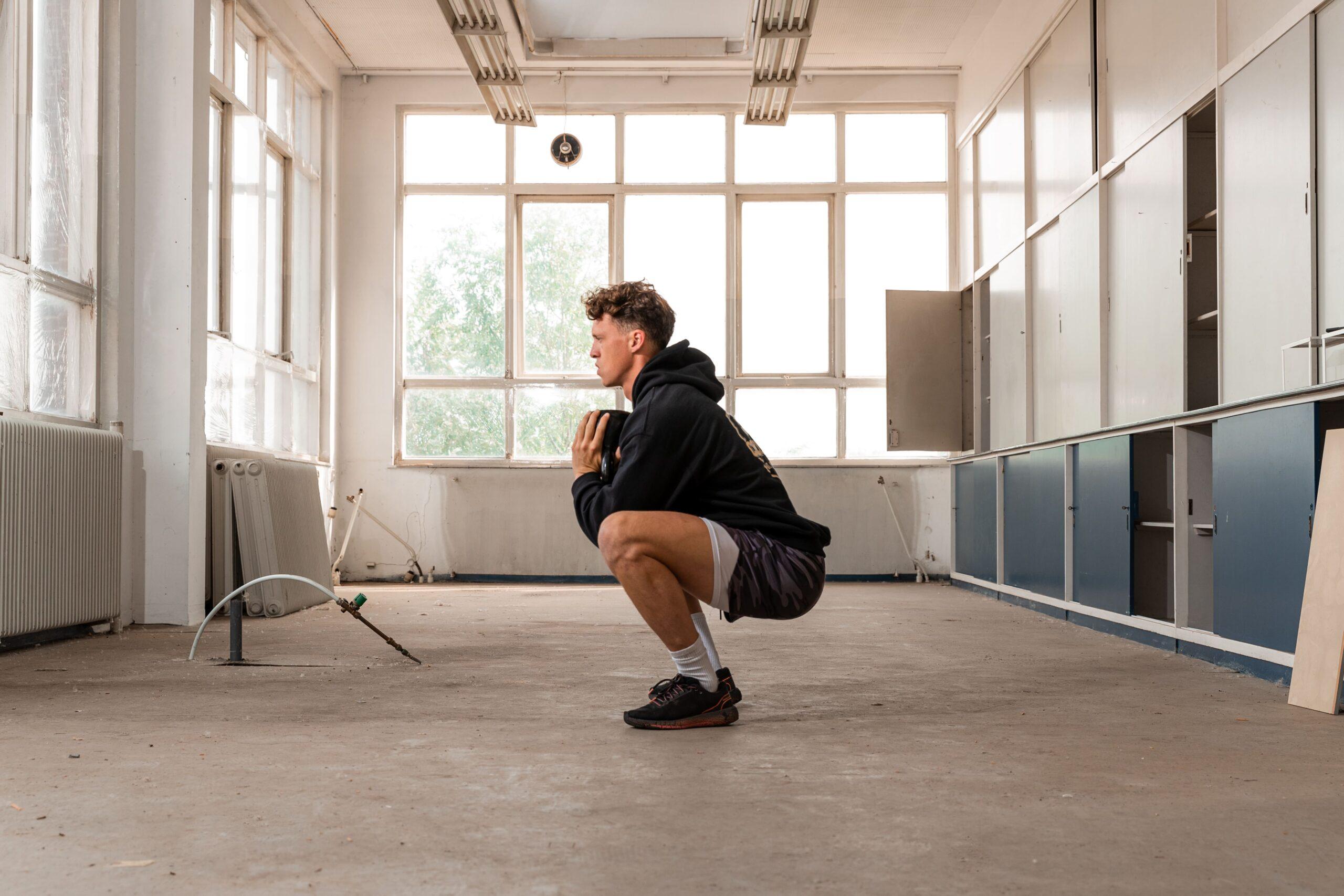 volle billen kettlebell squats